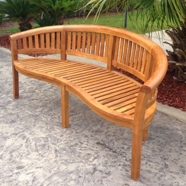 Meyer Teak Garden Bench by Bay Isle Home
