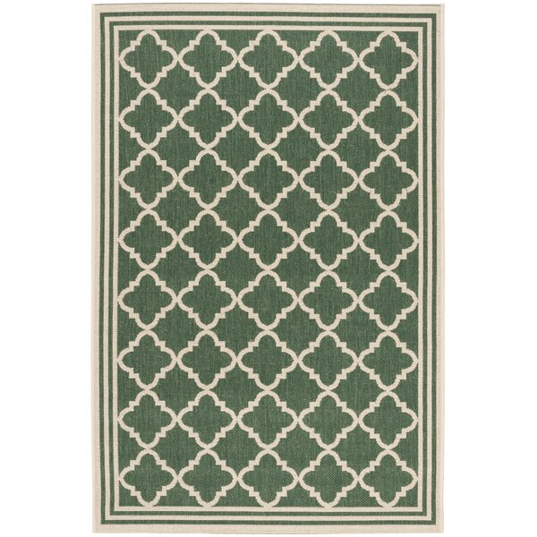 Adler Green Indoor/Outdoor Area Rug by Charlton Home