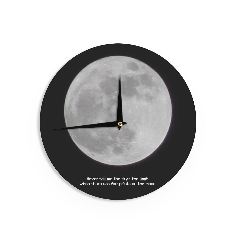 East Urban Home Sylvia Coomes The Moon 12 Wall Clock Wayfair