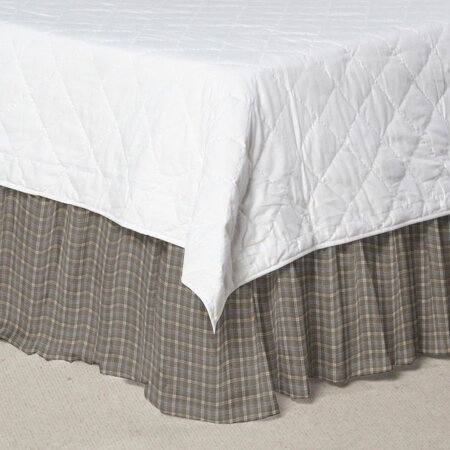 Plaid Cotton Dust Ruffle by Patch Magic