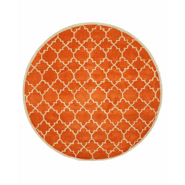 Durrant Hand Tufted Orange Area Rug by Brayden Studio