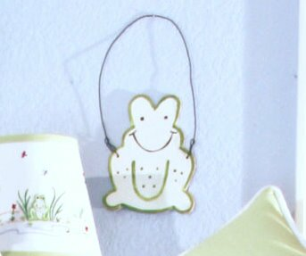 Sammy Frog Hanging Art by Brandee Danielle