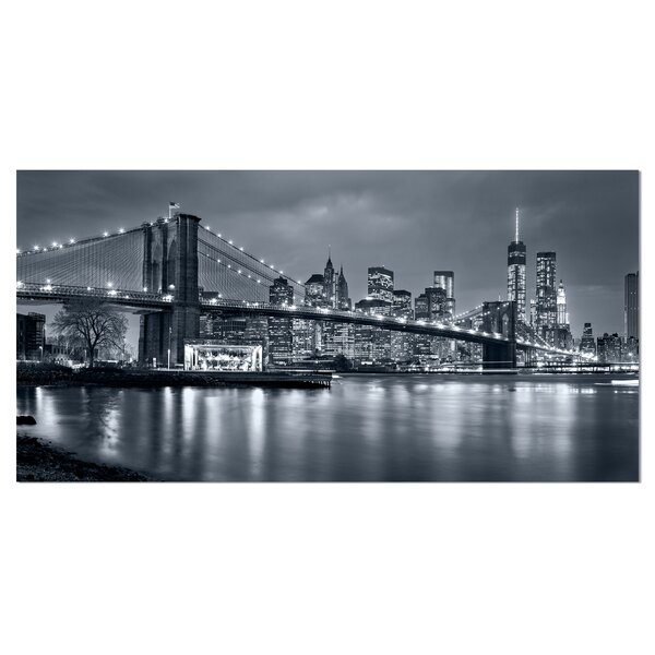 Panorama New York City at Night Cityscape Photogra
