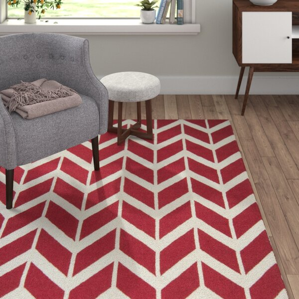 York Red Area Rug by Langley Street