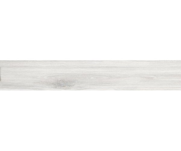Bonas 6 x 36 Porcelain Wood Look Tile in White by Tesoro