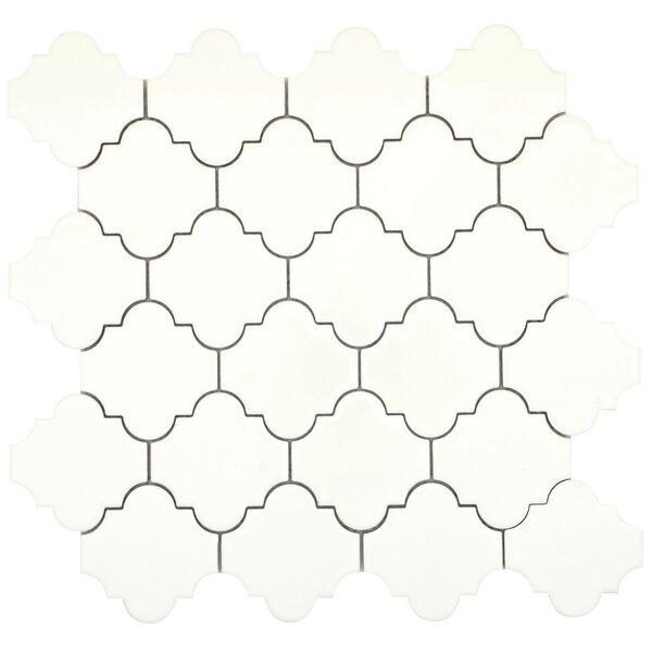Vogue Lantern 3 x 3 Porcelain Mosaic Tile in Glossy Biscuit by Emser Tile