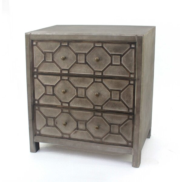 Raymundo Wooden 3 Drawer Accent Chest by House of Hampton House of Hampton