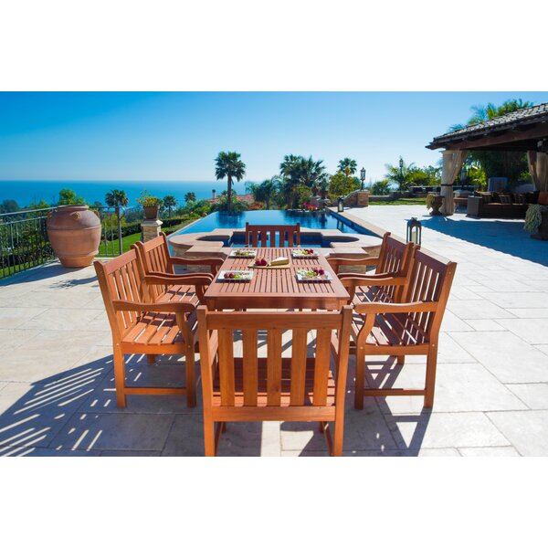 7 Piece Dining Set by Vifah