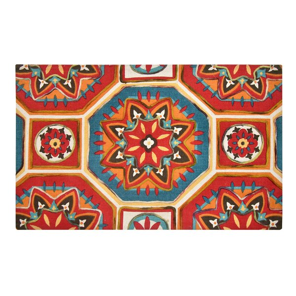 Nicklas Red/Blue Area Rug by Bloomsbury Market