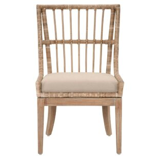 Hahn Woven Rattan Solid Wood Dining Chair (Set of 2)  sc 1 st  Wayfair & Wood Woven Rattan Chair | Wayfair