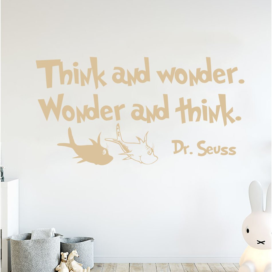 Think and Wonder Wall Decal