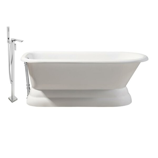 Cast Iron 66 x 30 Freestanding Soaking Bathtub by Streamline Bath