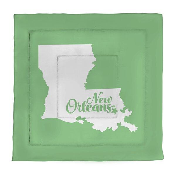 New Orleans Louisiana Microfiber Comforter - Queen Size