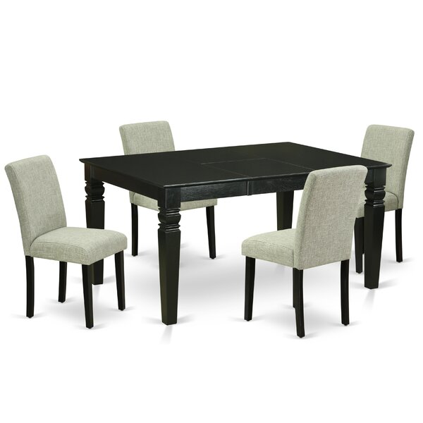Gisèle 5 Piece Extendable Solid Wood Dining Set By Winston Porter