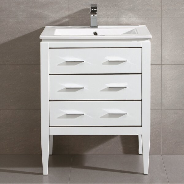 Bourdeau 24 Single Bathroom Vanity Set by Wrought Studio