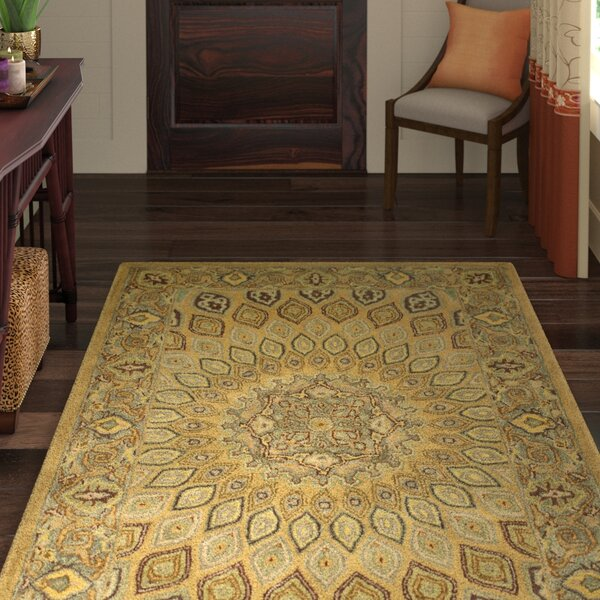Gideon Light Brown/Grey Area Rug by World Menagerie