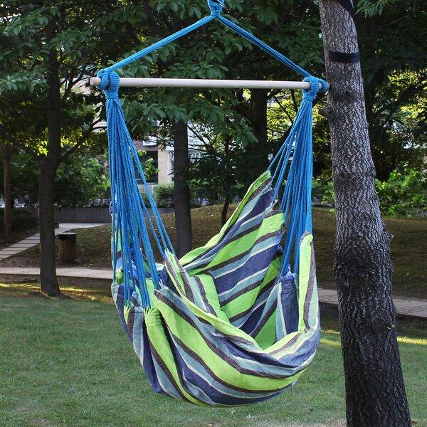 Biron Green Stripe Chair Hammock by Latitude Run