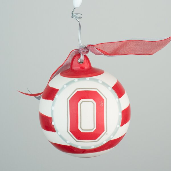 Ohio State Stripe Ball Ornament by Glory Haus