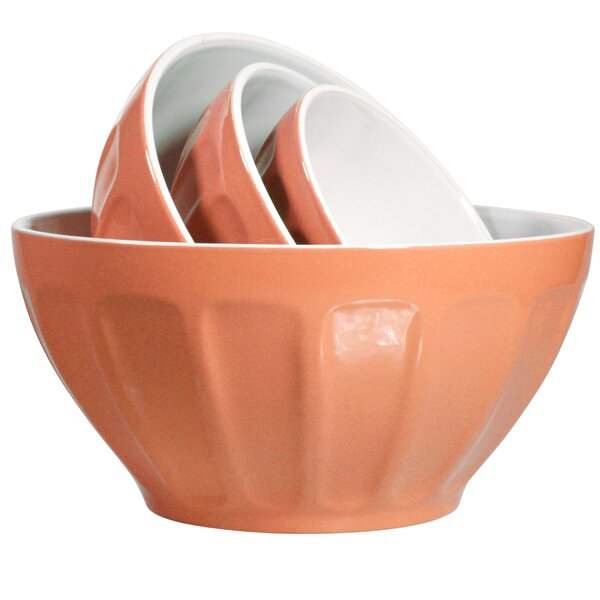 4 Piece Stoneware Mixing Bowl Set by Home Essentials and Beyond
