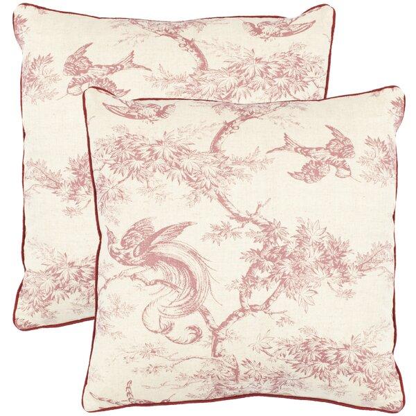 Norah Cotton Toile Throw Pillow (Set of 2) by Safavieh