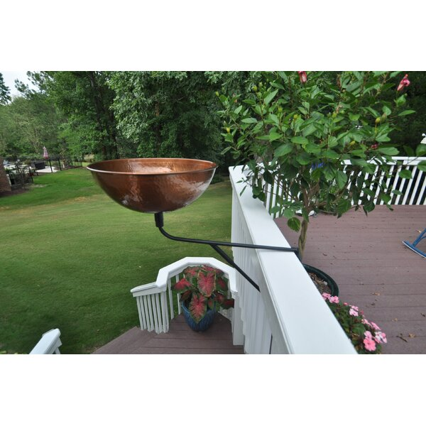 Hammered Planter with Deck Mount Wall Planter by Starlite Garden and Patio Torche Co.