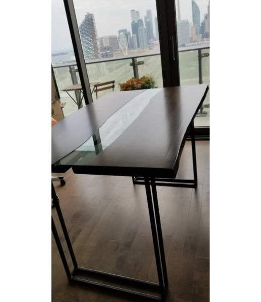 Kiley Live Edge Dining Table by Orren Ellis