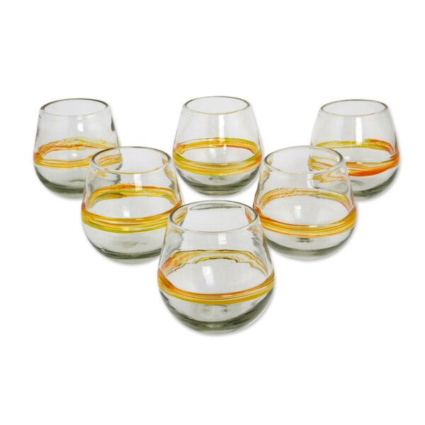 Handblown Recycled 14 Oz. Water Glass Set (Set of 6) by Novica