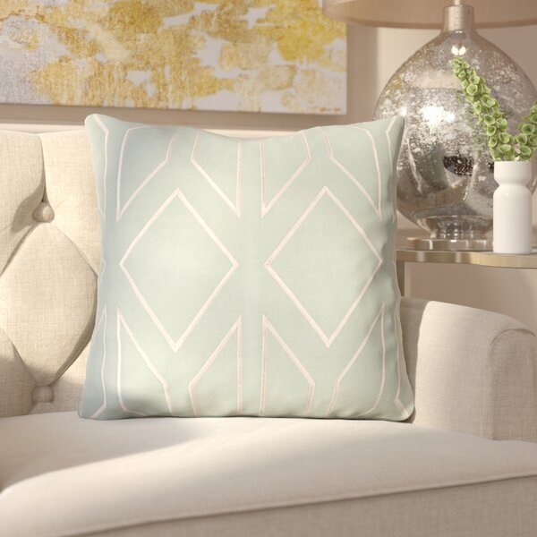 Honiton Linen Throw Pillow by House of Hampton