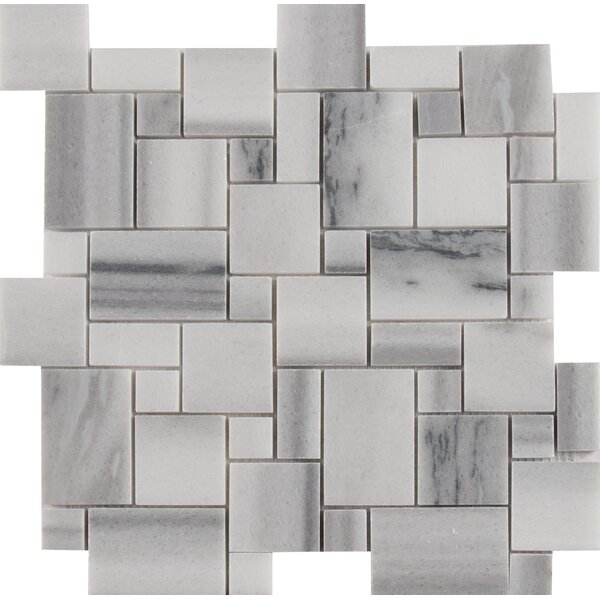 Bergamo Magic Random Sized Marble Mosaic Tile in Gray by MSI