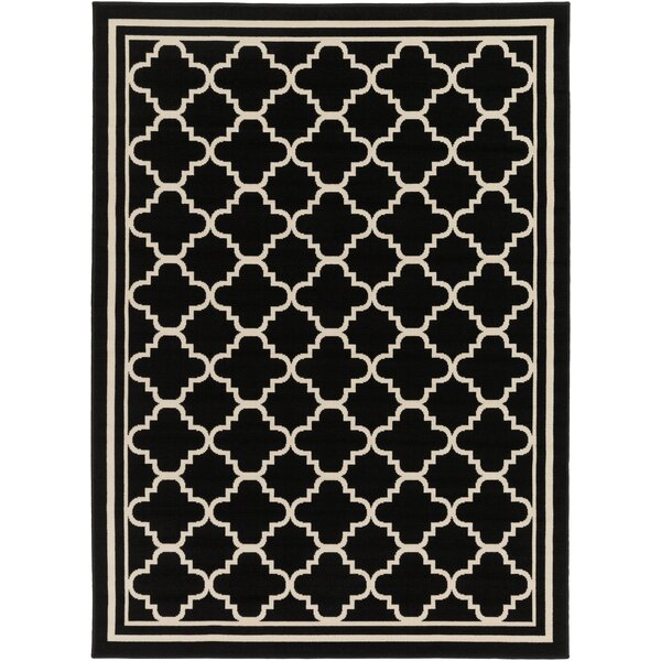 Osage Black Indoor/Outdoor Area Rug by Charlton Home