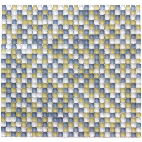 Atlantis 0.25 x 0.25 Glass Mosaic Tile in Capri Yellow/Blue by Solistone