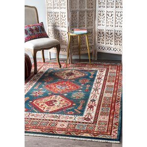 La Puente Blue/Red Area Rug
