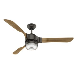 Affordable 54 Apache Wi-Fi 3 Blade Ceiling Fan with Remote By Hunter Fan