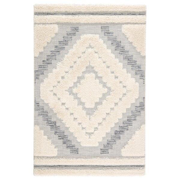 Vena Geometric Gray/Beige Indoor/Outdoor Area Rug by Bungalow Rose