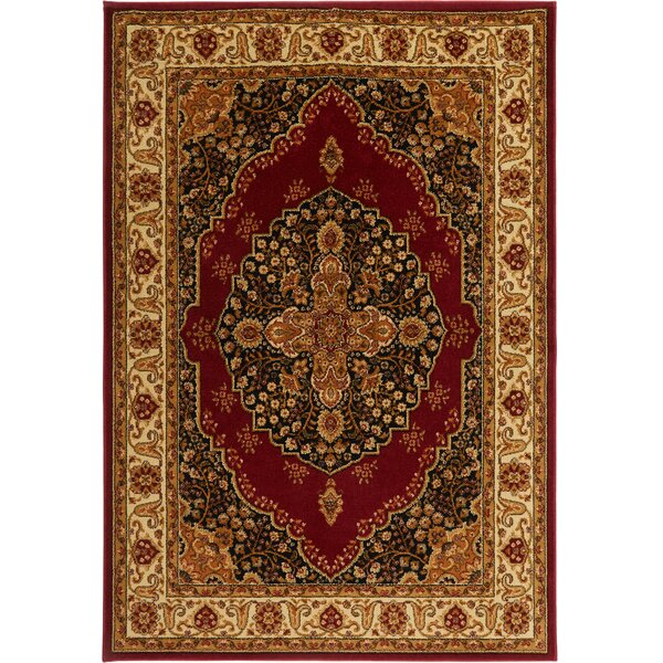 Caterina Red Area Rug by Astoria Grand