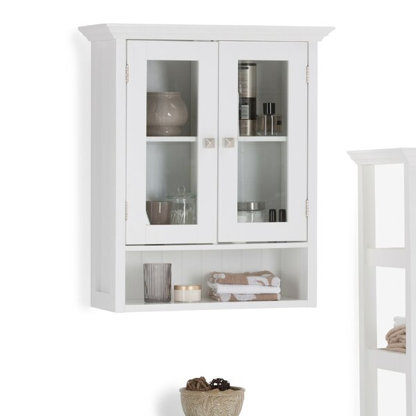 Acadian Double Door 23.63 W x 27.96 H Wall Mounted Cabinet by Simpli Home