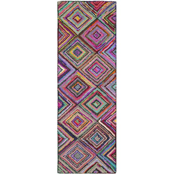 Sergio Hand-Tufted Pink/Green Area Rug by World Menagerie
