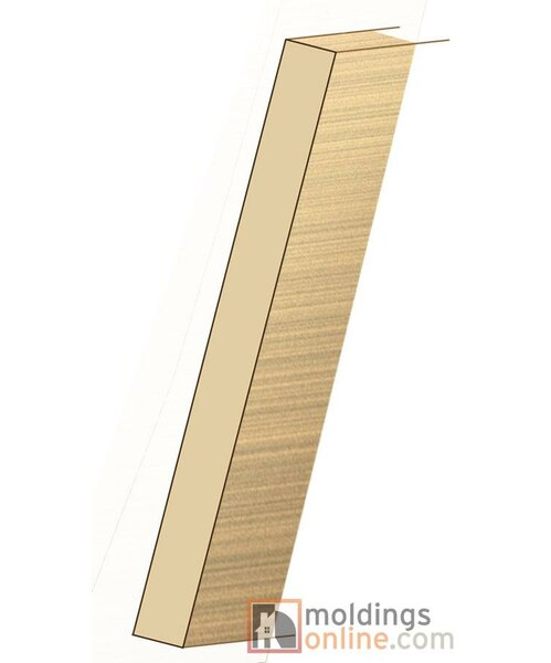 0.75 x 7.5 x 36 Pecan Riser by Moldings Online