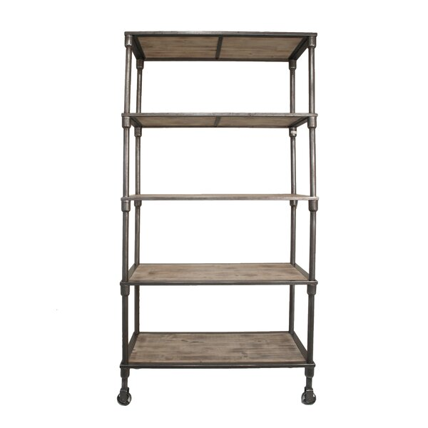 Loftis Fabulous Metal Wood Etagere Bookcase by 17 Stories