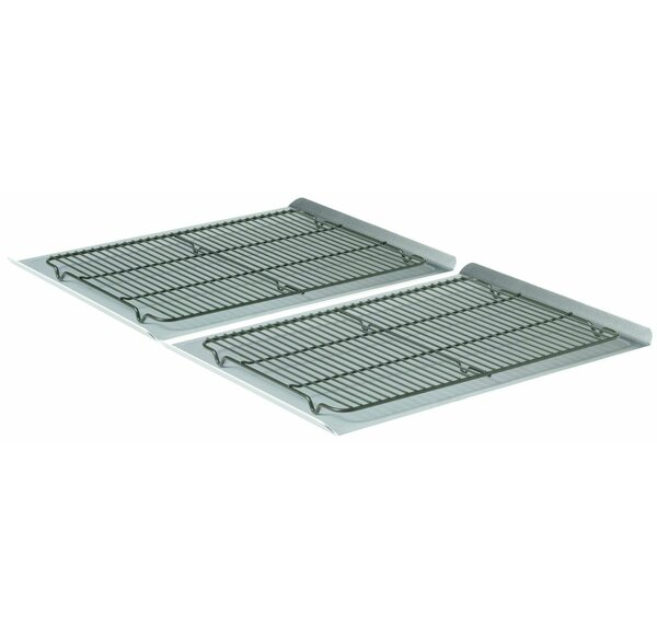 4 Piece 19 Non-Stick Cookie Sheet and Cooling Rack Set by Calphalon