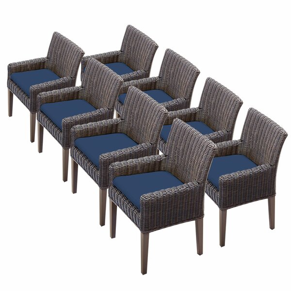 Fairfield Patio Dining Chair with Cushion (Set of 8) by Sol 72 Outdoor
