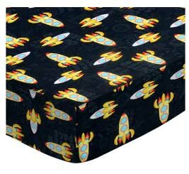 Outer Space Round Fitted Crib Sheet by Sheetworld