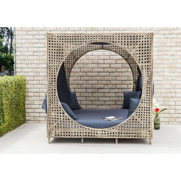 Brennon Cube Patio Daybed with Cushions by Bungalow Rose