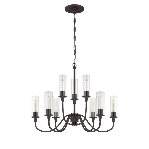 Eunice 9-Light Shaded Tiered Chandelier by Charlton Home Charlton Home