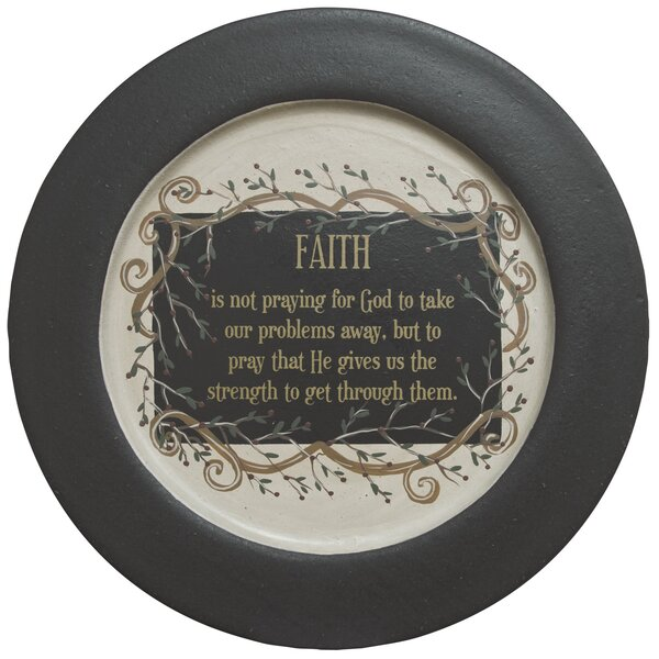 Faith And Vine Plate by The Hearthside Collection