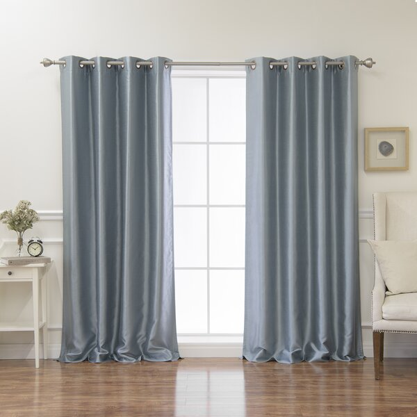 Rosanna Solid Blackout Grommet Curtain Panels (Set of 2) by Langley Street