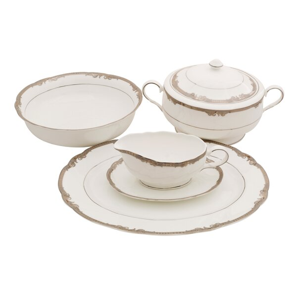 Ivy Bone China Special Serving 5 Piece Dinnerware Set by Shinepukur Ceramics USA, Inc.
