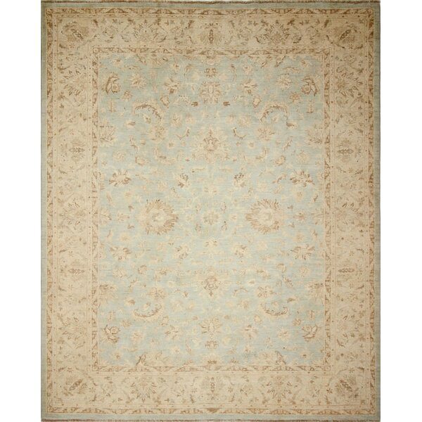 One-of-a-Kind Romona Faded Hand-Knotted Green/Blue Area Rug by Isabelline