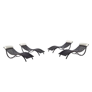 Bloch Chaise Lounge with Cushion (Set of 4) By Orren Ellis