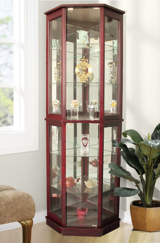 Andover Mills Biali Lighted Corner Curio Cabinet Amp Reviews